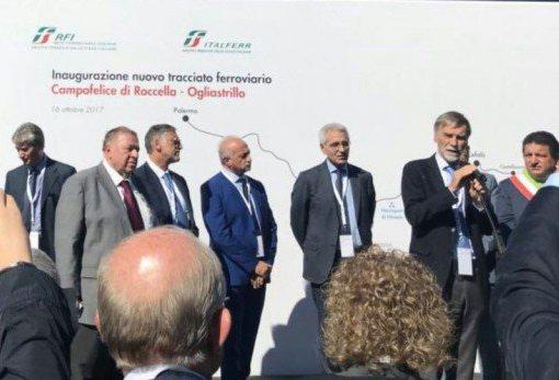 Il Ministro Delrio inaugura il tracciato Campofelice di Roccella – Ogliastrillo