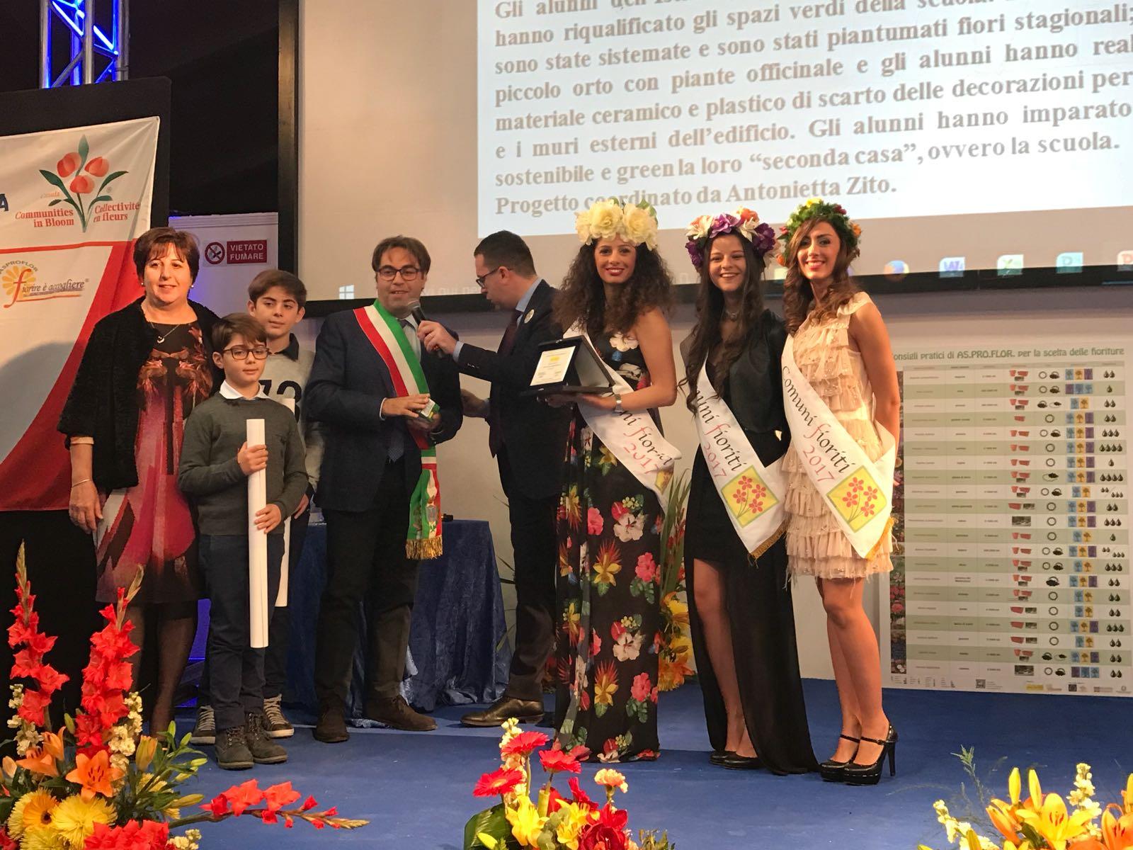Il Comune di Tusa premiato al Concorso Nazionale Comuni fioriti 2017