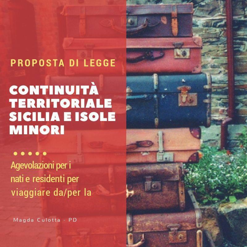 """Continuità territoriale, proposta di legge dall'On. Culotta: """"Fermare il caro prezzi e i disagi per chi viaggia da e per la Sicilia"""""""