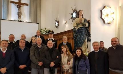 Restaurata la statua dell'Immacolata a Campofelice di Roccella