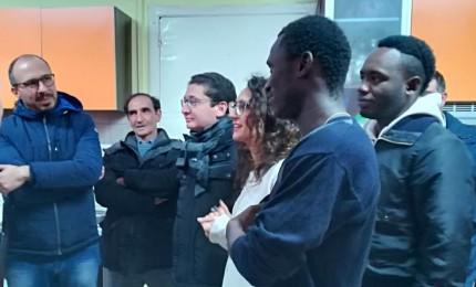 L'On. Davide Faraone in visita al centro minori migranti di Geraci Siculo