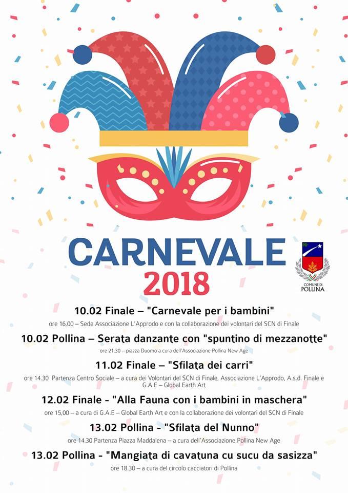 Pollina, ecco il programma del Carnevale