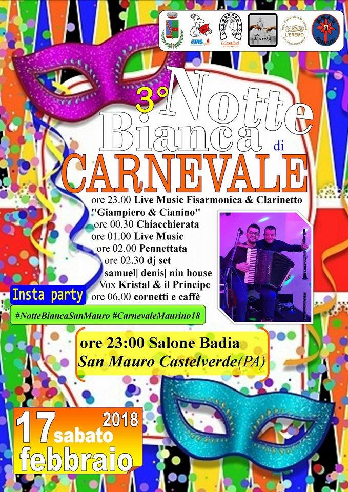 Notte bianca di Carnevale, a San Mauro si fa ancora festa