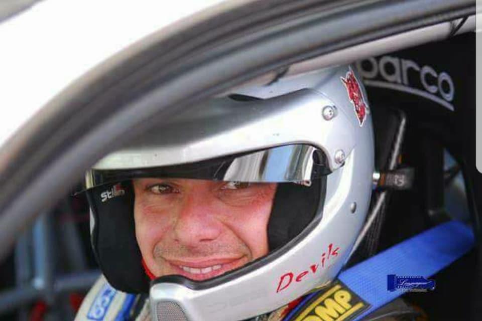 Roberto Lombardo con i colori della scuderia Real Cefalù al 2° Rally Cefalù Corse