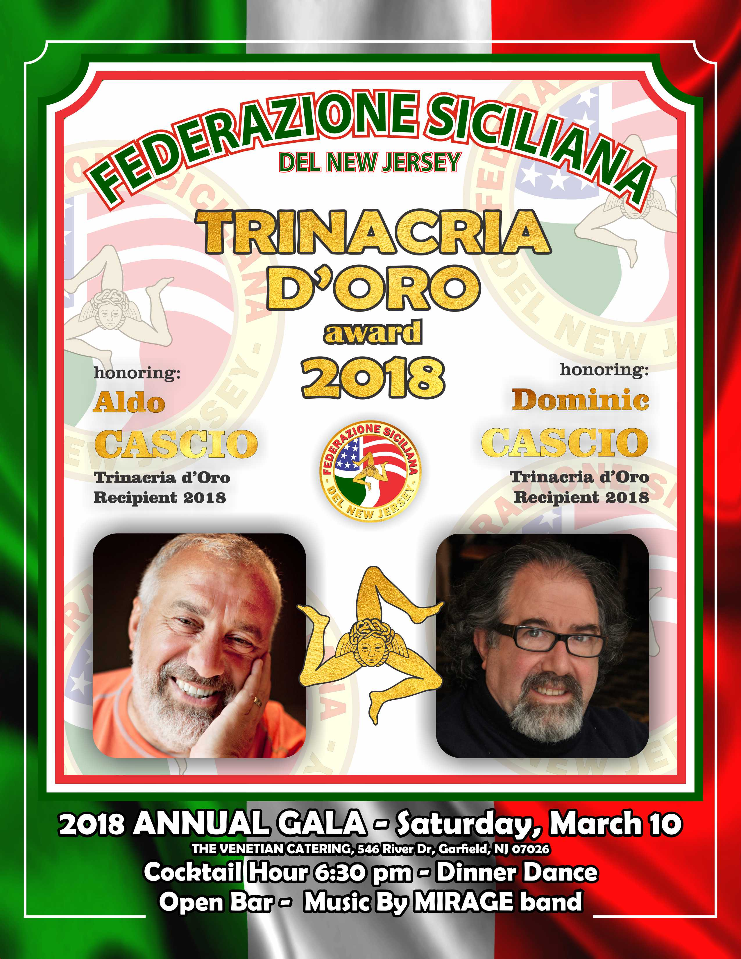 La Federazione Siciliana del New Jersey premia due madoniti DOC