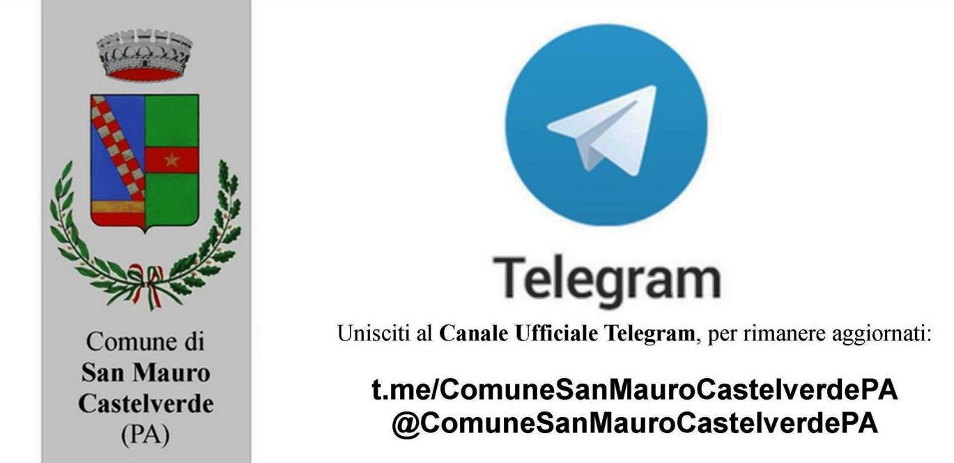 Canale Telegram per i cittadini di San Mauro Castelverde