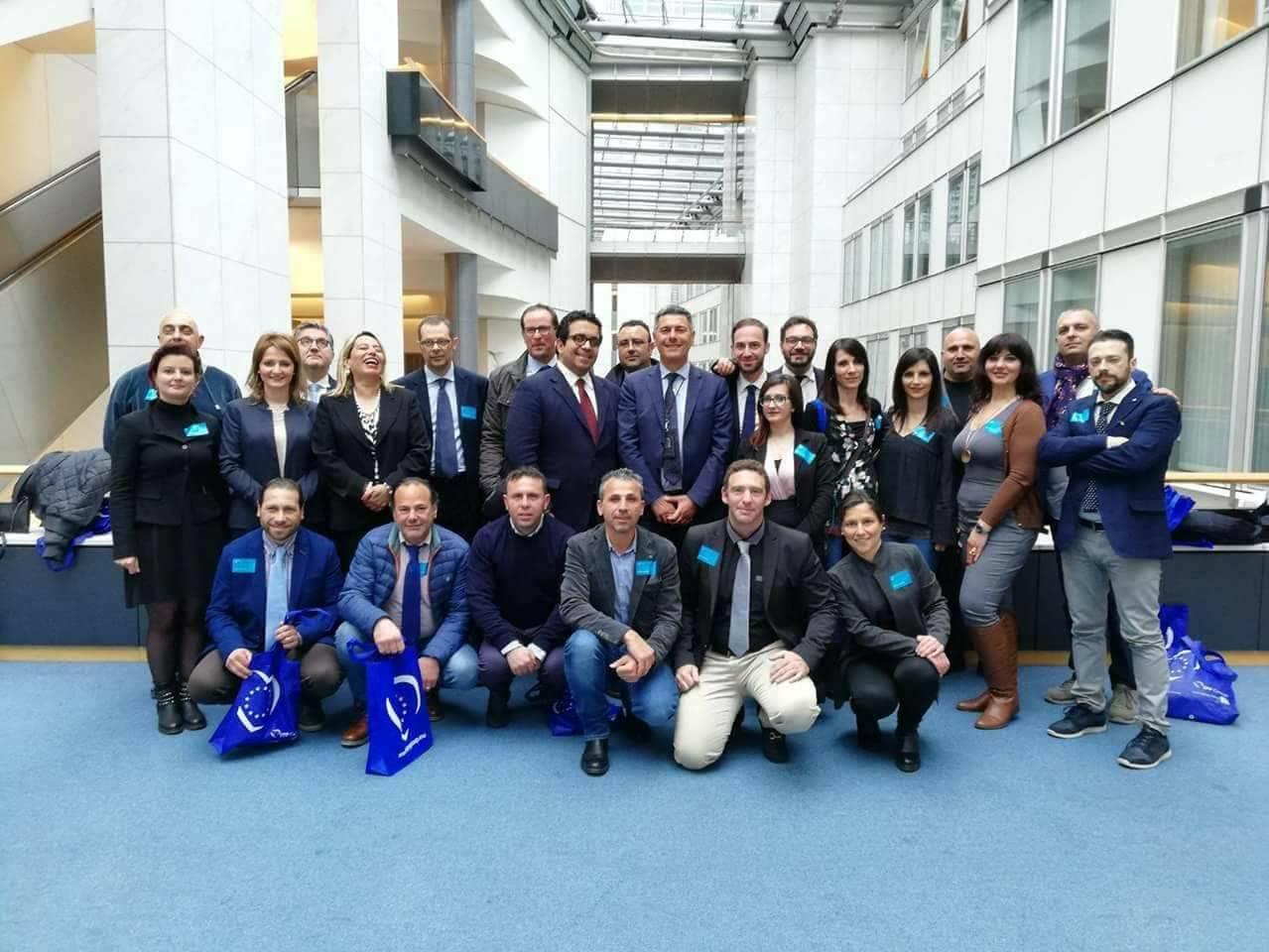 Amministratori madoniti in visita al Parlamento europeo