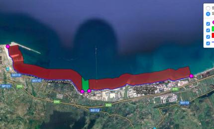 Termini Imerese, divieto di balneazione: ecco la mappa grafica