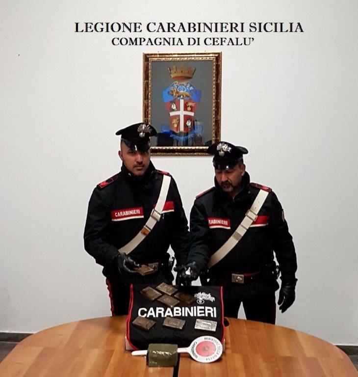 Cefalù: trovati in possesso di hashish e cocaina, due giovani arrestati dai Carabinieri