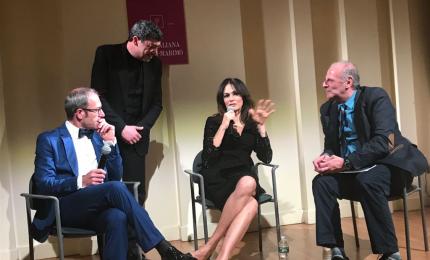 """Il pasticcere castelbuonese Fiasconaro con l'attrice Cucinotta a New York per la presentazione del film """"I Siciliani"""""""