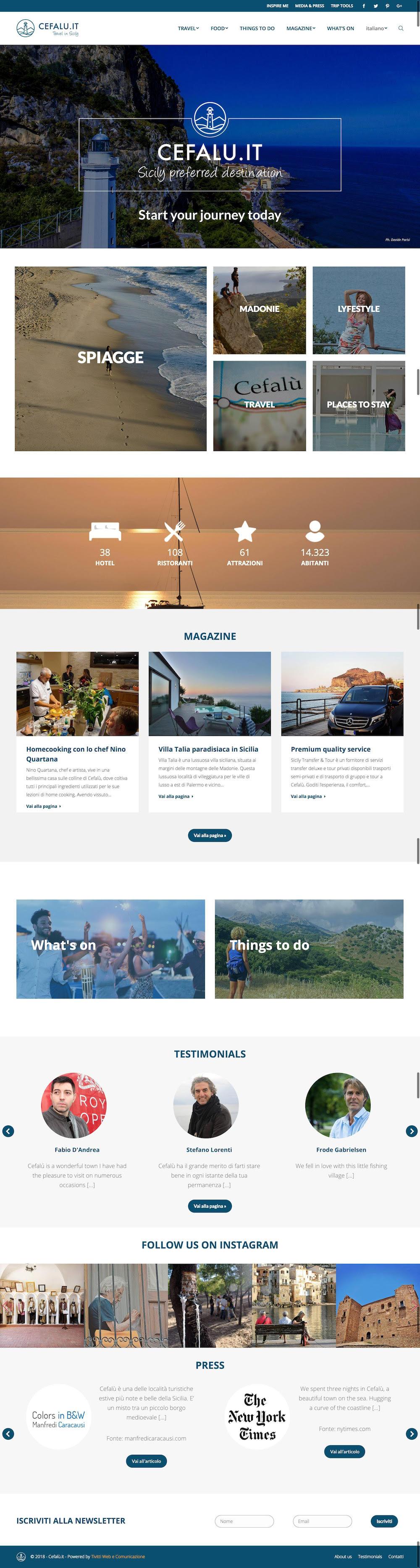 Cefalù.it, nuovo portale sul turismo per la Perla del Tirreno e le Madonie
