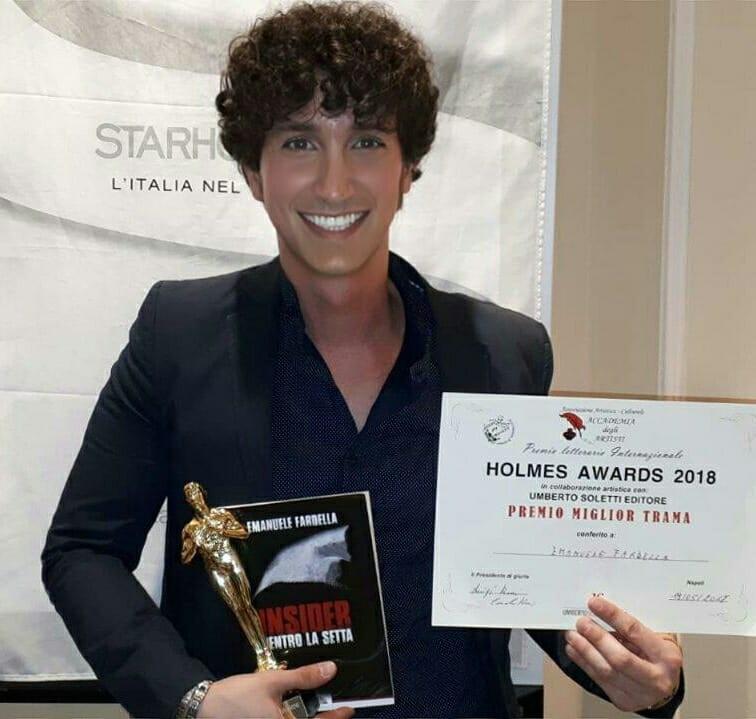 """Il giovane scrittore palermitano Emanuele Fardella tra i vincitori degli """"Holmes Awards 2018"""" con il suo romanzo """"Insider. Dentro la setta"""" (Edizioni Leima)"""