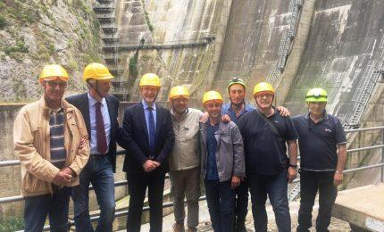 """Caccamo: il sopralluogo di Musumeci alla diga Rosamarina: """"I fondi ci sono, ma pochi progetti"""""""