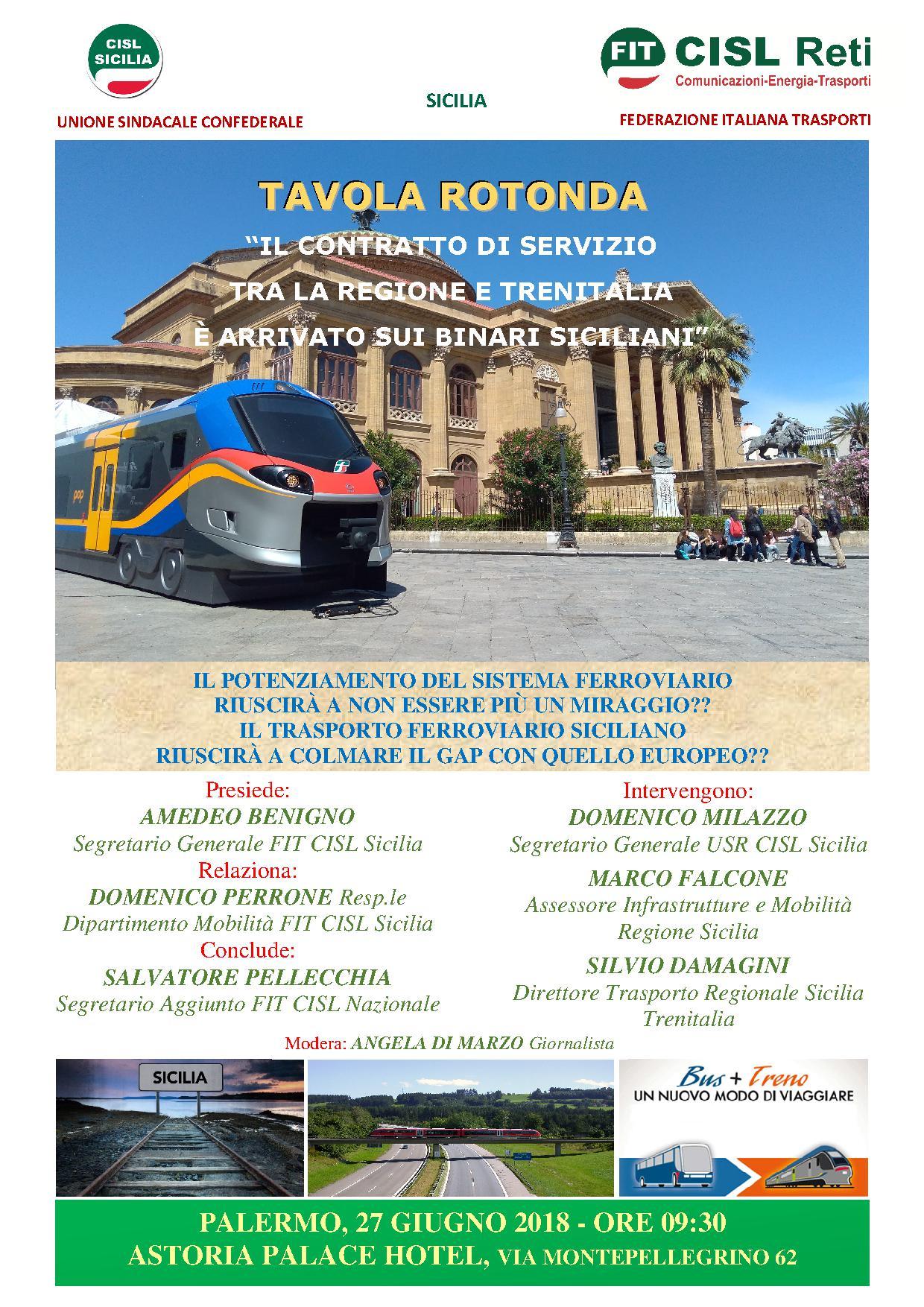 Ferrovie, incontro sul contratto di servizio con Regione e Trenitalia