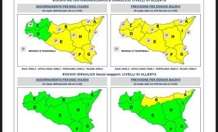 Allerta meteo in Sicilia: previsti temporali in tutta l'isola