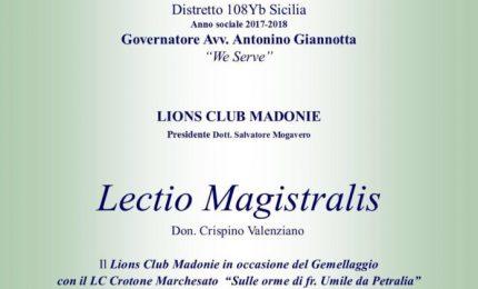 Petralia Soprana: domani pomeriggio lectio magistralis di Don Crispino Valenziano su Frate Umile