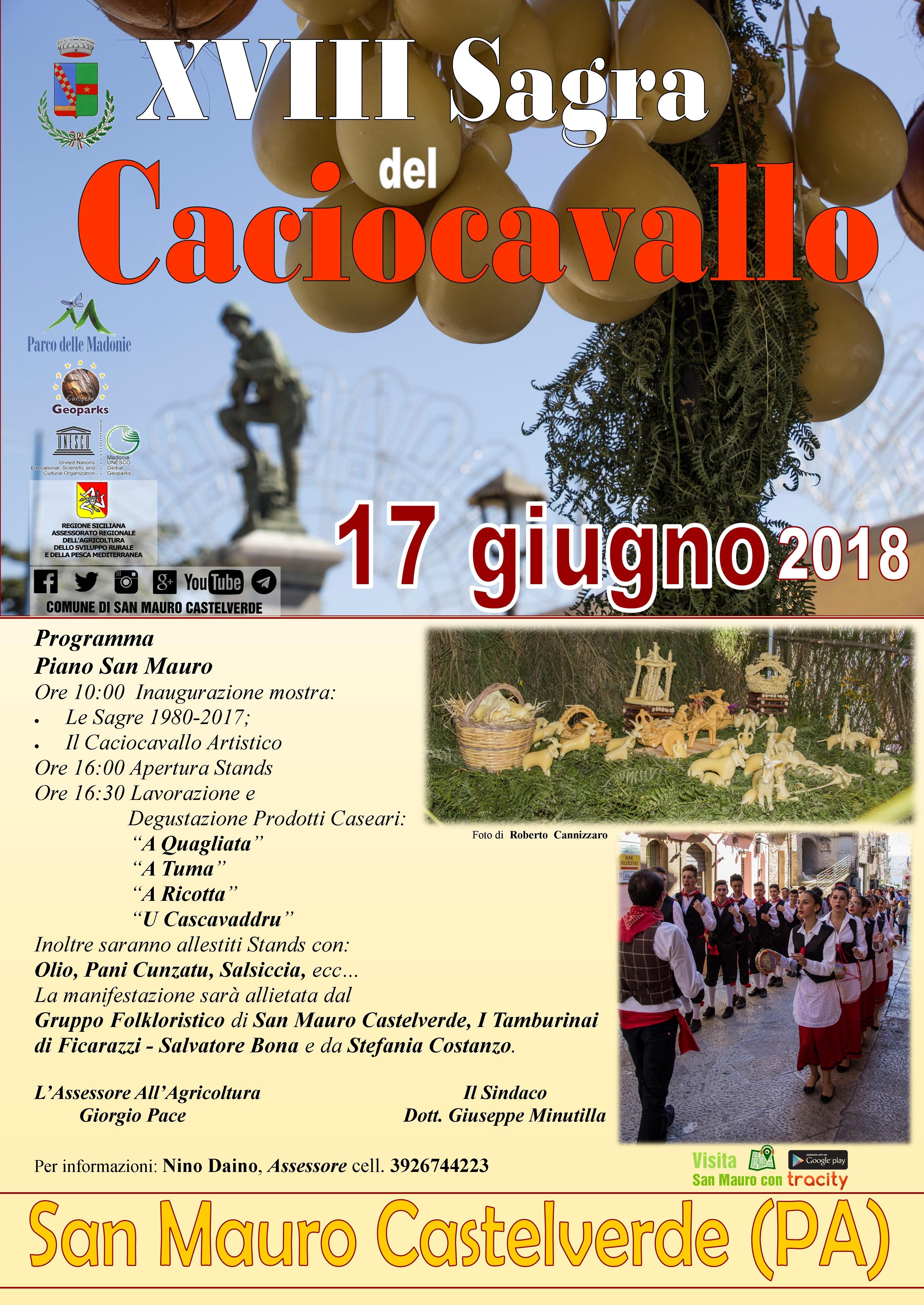 """""""XVIII Sagra del Caciocavallo""""a San Mauro Castelverde, il programma dell'evento"""