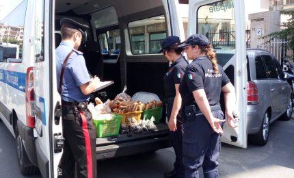 Venditori ambulanti abusivi: sequestrati oltre centodieci chili di pane