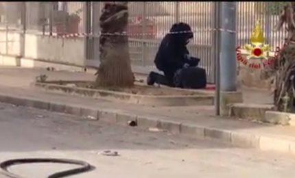 Paura a Bagheria, valigia abbandonata fatta brillare dagli artificieri (VIDEO)