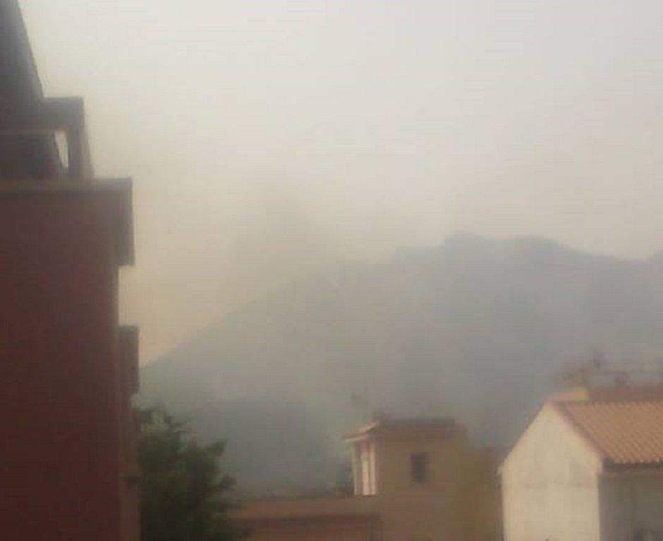 Vasto incendio tra Altavilla Milicia e Casteldaccia, minacciate le abitazioni