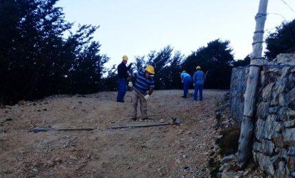 Iniziati i lavori di sistemazione della strada tra il bivio di Petralia Sottana  e il santuario Madonna dell'Alto