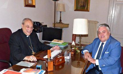 Il commissario del Parco dal vescovo di Cefalù