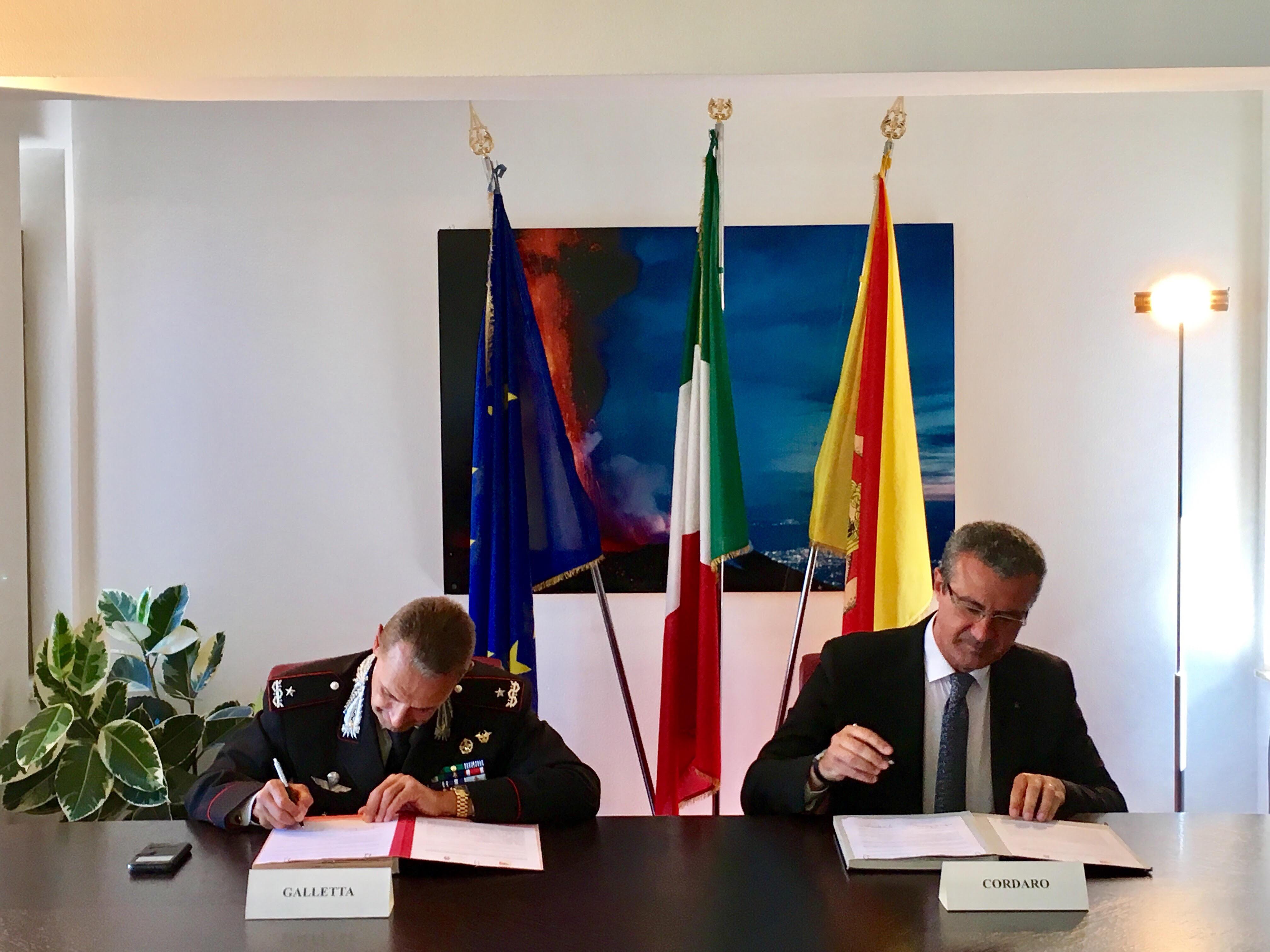 Tutela acque marine, firmato accordo fra assessorato Ambiente e Comando Carabinieri