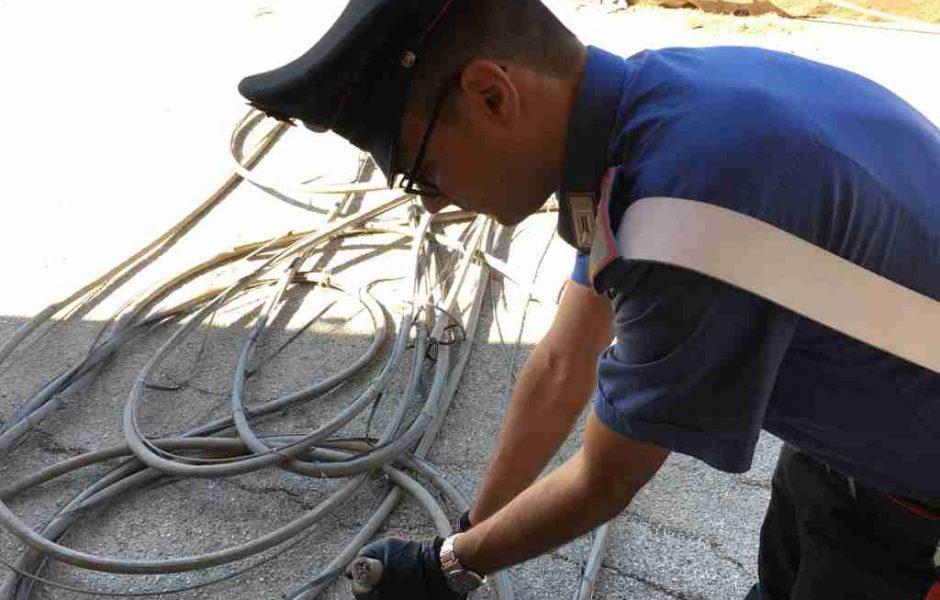 Furto di rame: arrestato un uomo da due carabinieri liberi dal servizio