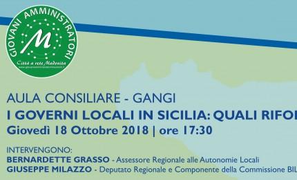 Governi locali in Sicilia: quali riforme? Se ne parlerà all'incontro promosso dai GAM