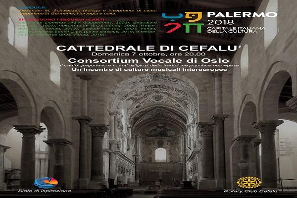 Il Consortium Vocale di Oslo in concerto a Cefalù