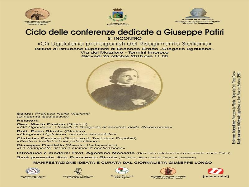 Continua il ciclo di conferenze su Giuseppe Patiri