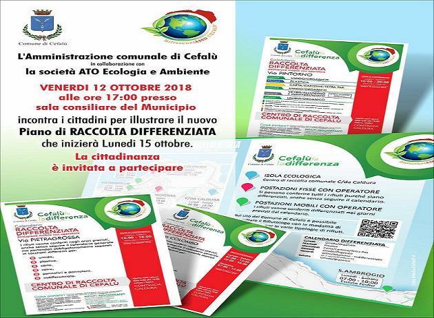 Cefalù: assemblea cittadina per la raccolta differenziata