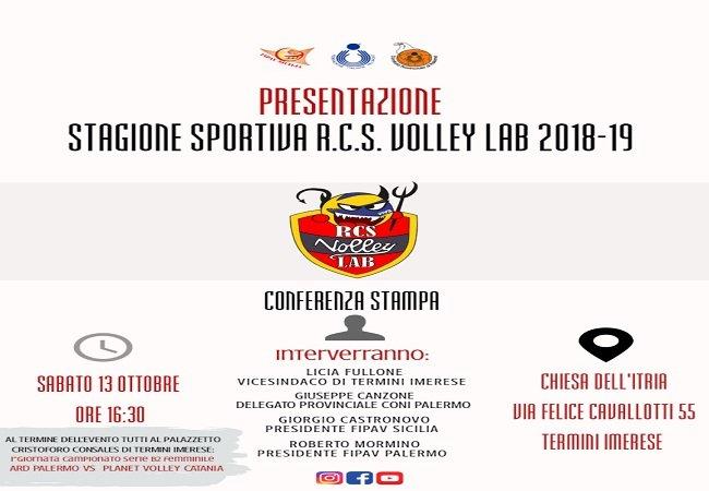 Sabato a Termini Imerese si presenta la Rcs Volley Lab