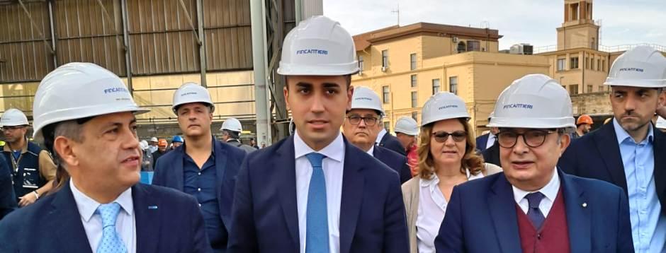 """Di Maio in visita ai cantieri navali di Palermo: """"il candidato sindaco di """"Corleone espulso dal movimento"""""""