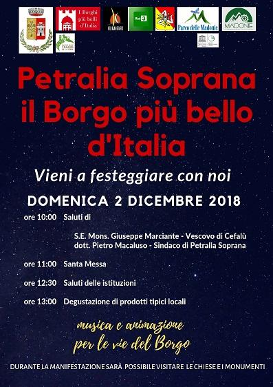 Petralia Soprana, sarà festa domenica nel borgo più bello d'Italia