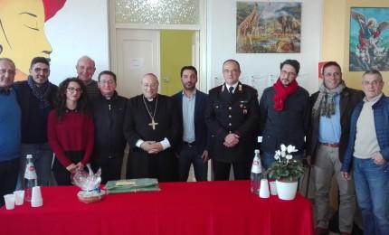 Il Vescovo Marciante incontra gli ospiti della cooperativa di Geraci (FOTO)
