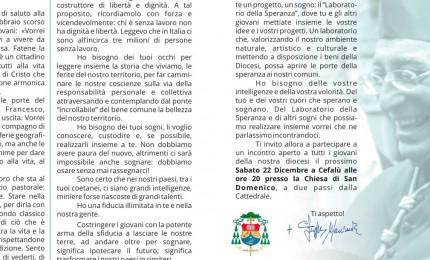 """Cefalù, Vescovo Marciante convoca i giovani: """"Ho bisogno delle vostre intelligenze"""""""