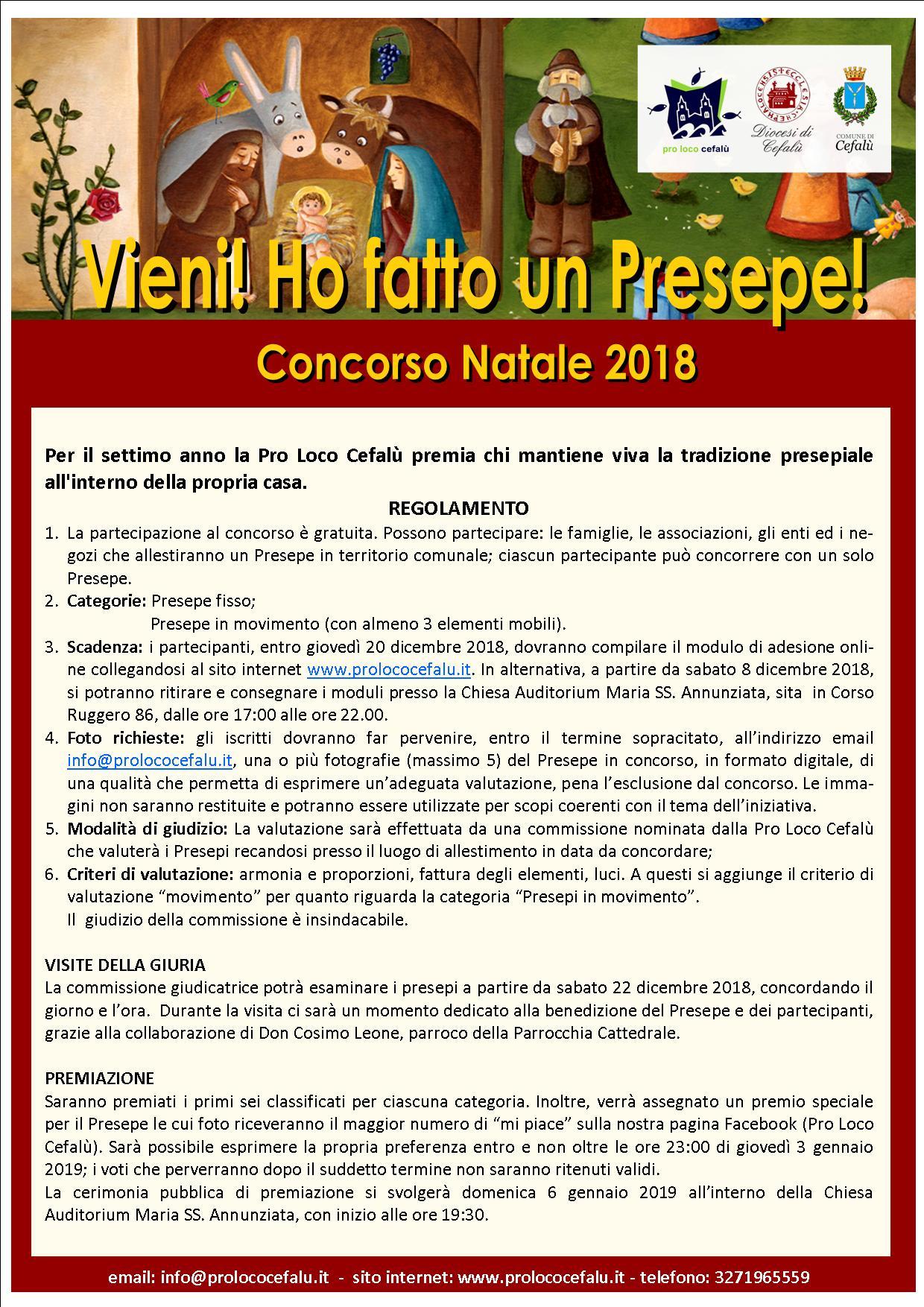 Cefalù, Pro Loco promuove concorso per i presepi