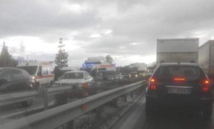 Maltempo: incidente sulla A19, sei auto coinvolte