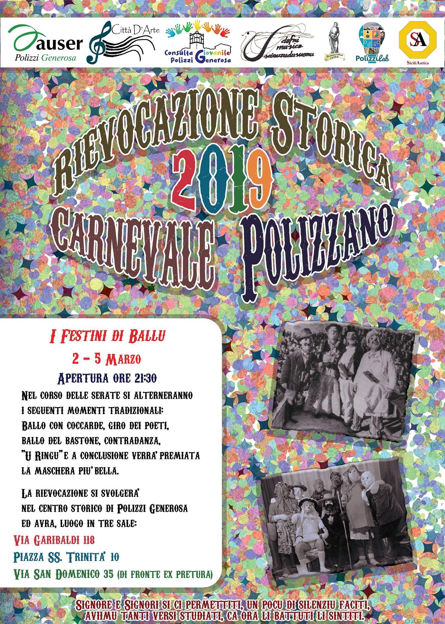 É tempo di Carnevale: rievocazione storica a Polizzi Generosa