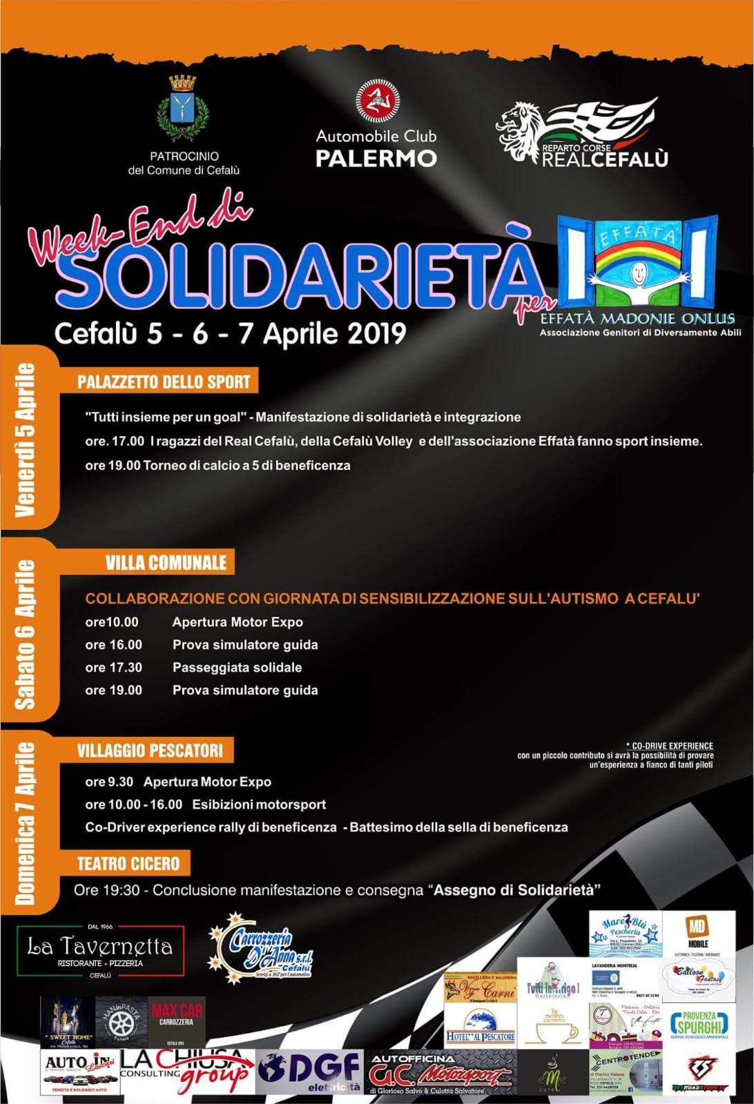 Ritorna a Cefalù il week end di solidarietà