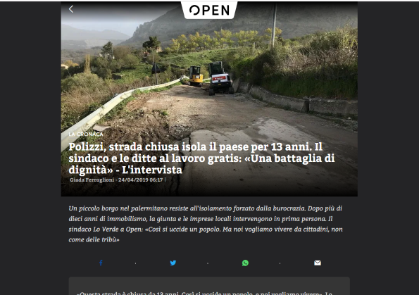 Polizzi su Open, anche il giornale di Mentana racconta la protesta