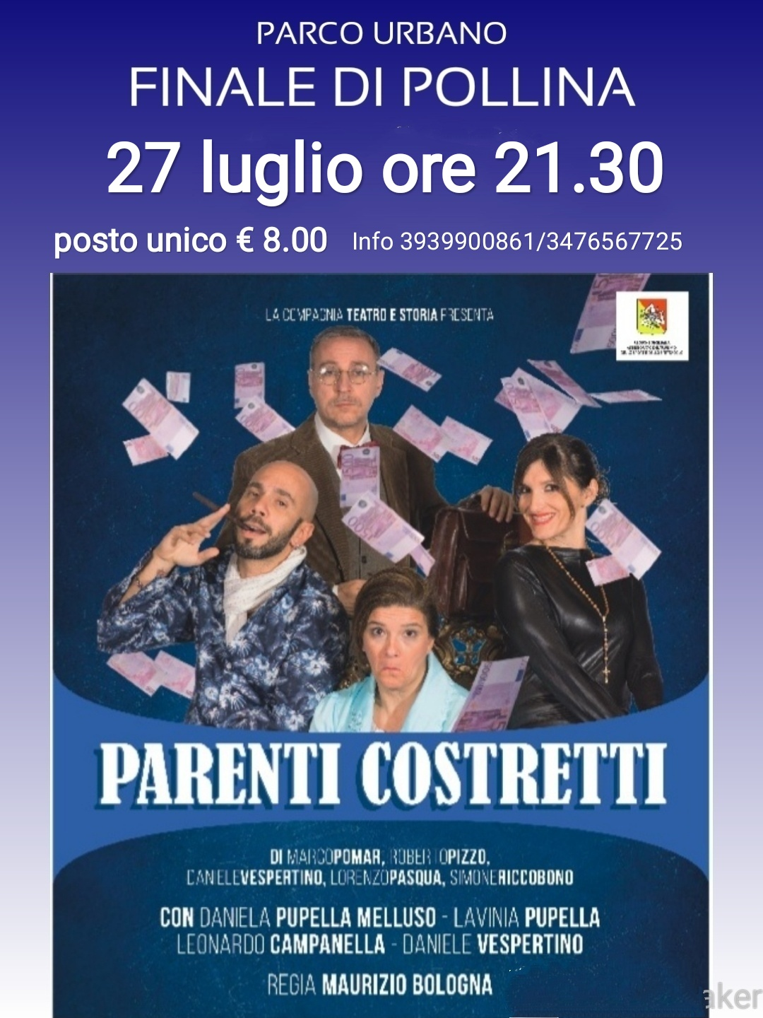 Parenti costretti, commedia brillante in scena a Finale