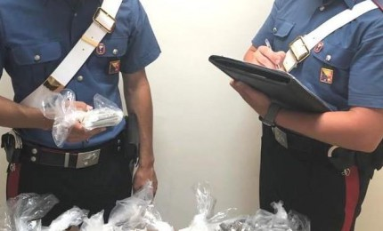 Arrestata donna trovata in possesso di 1.8 chili di hashish
