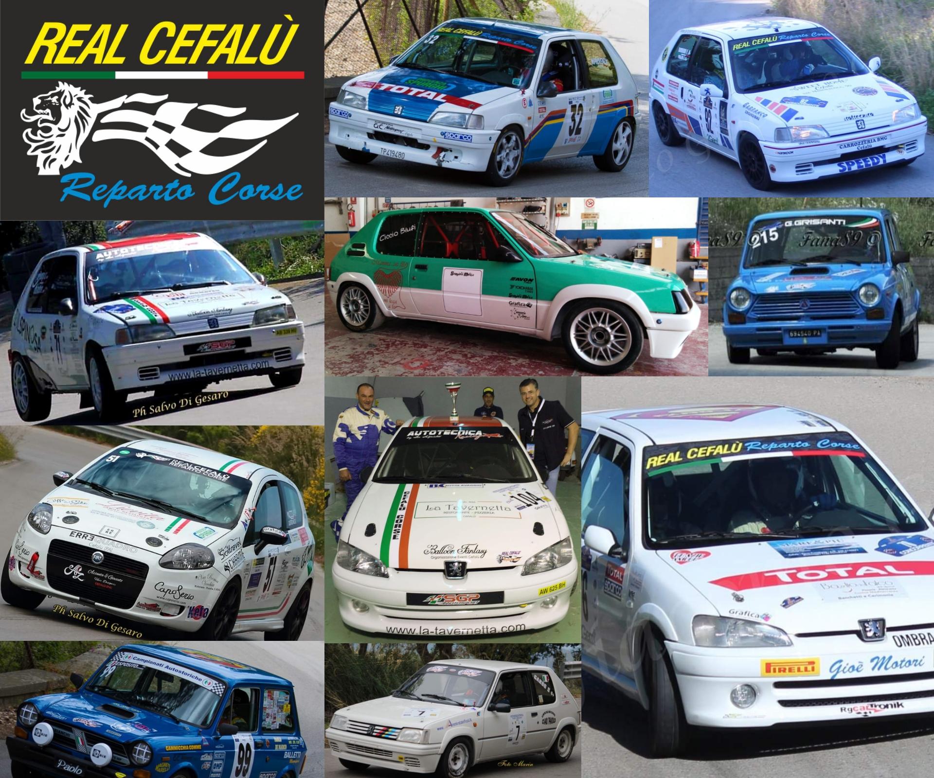 Il Real Cefalù Reparto Corse presente in massa allo all'autoslalom di Castelbuono