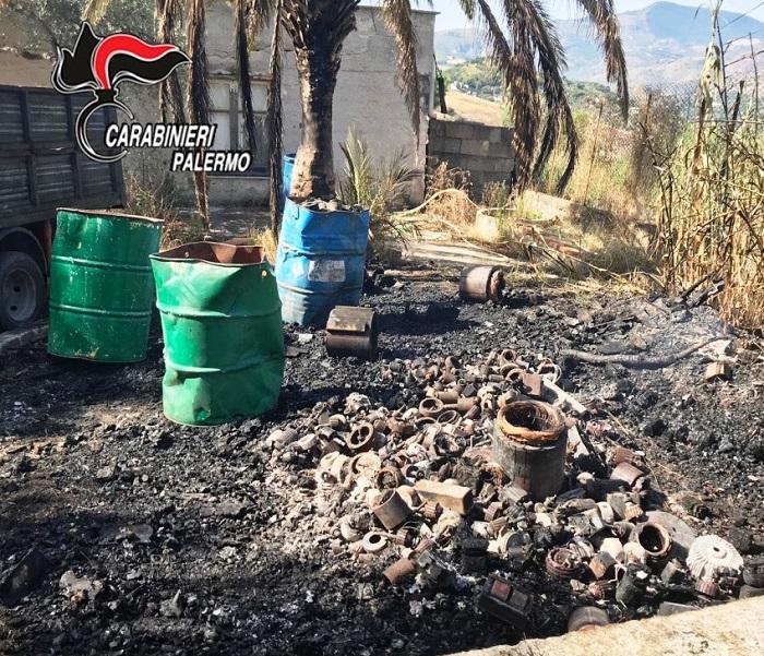 Sorpreso a bruciare rifiuti