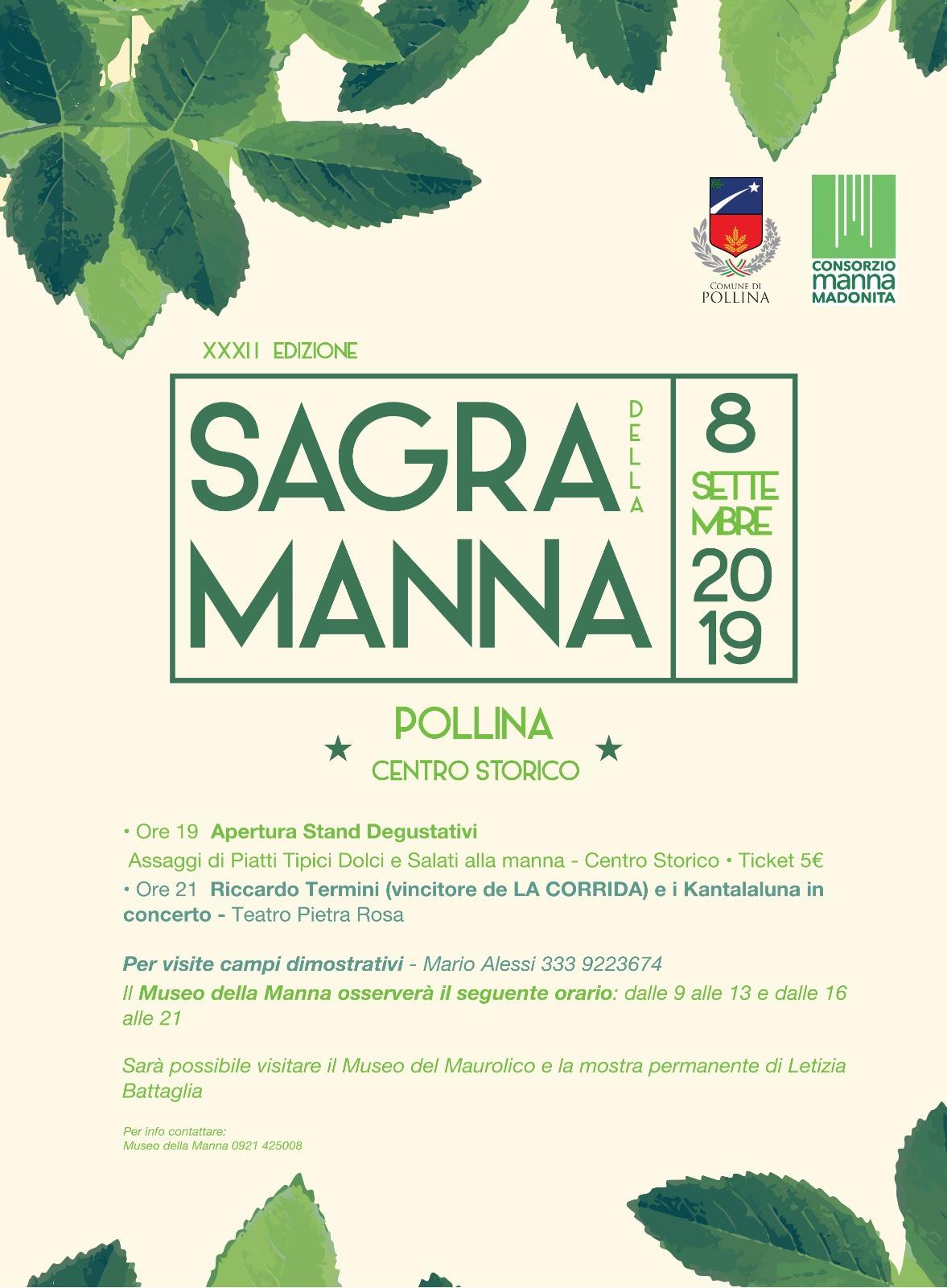 Domani la Sagra della Manna a Pollina