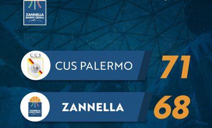 Zannella sconfitta sul fil di sirena 71 a 68
