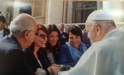 Martina Giannone e una delegazione della Fondazione Giglio ricevuti dal Papa