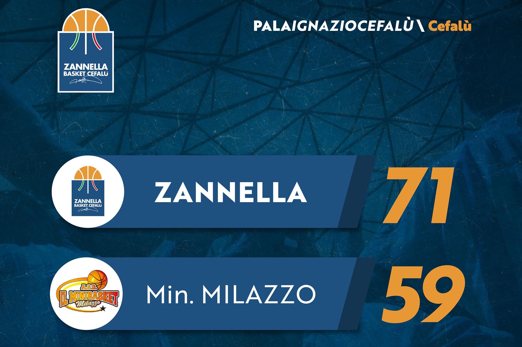 Bis per la Zannella Basket. Battuto il Minibasket Milazzo
